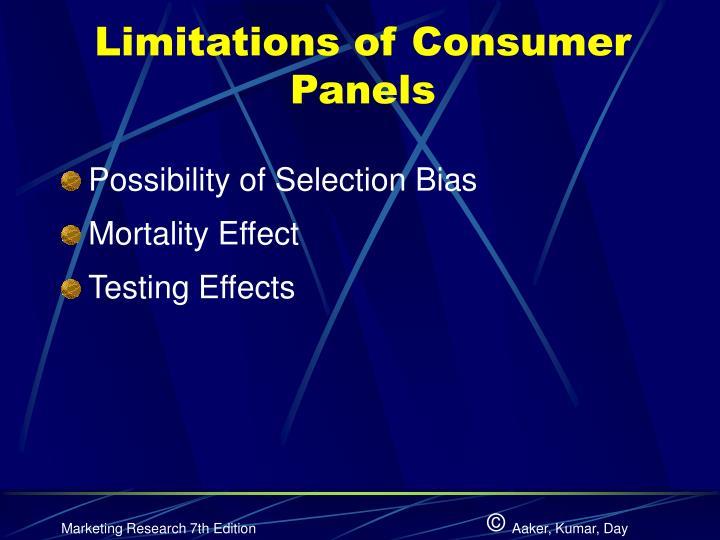 Limitations of Consumer Panels