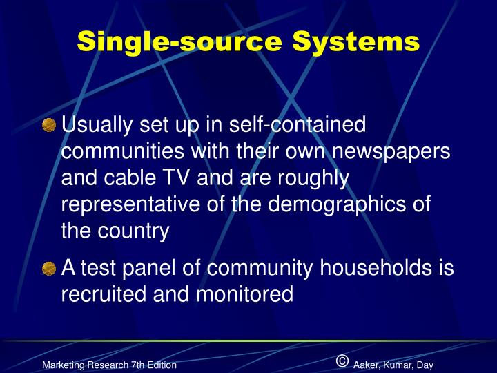Single-source Systems