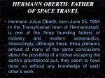 hermann oberth father of space travel1