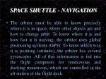 space shuttle navigation