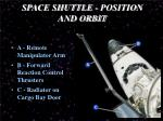 space shuttle position and orbit1