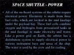 space shuttle power