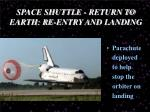 space shuttle return to earth re entry and landing3