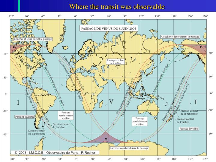 Where the transit was observable