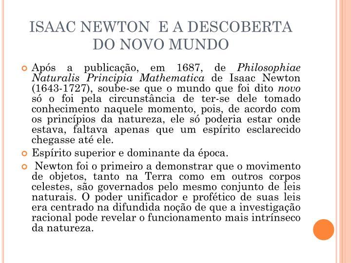 ISAAC NEWTON  E A DESCOBERTA DO NOVO MUNDO