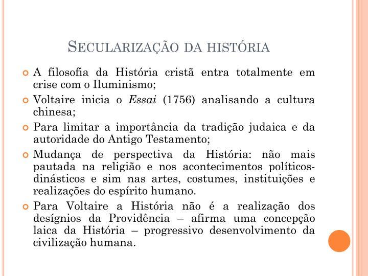 Secularização da história