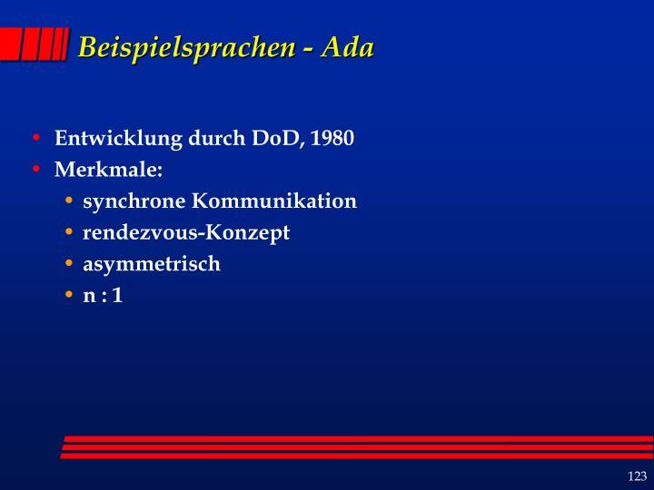 Beispielsprachen - Ada