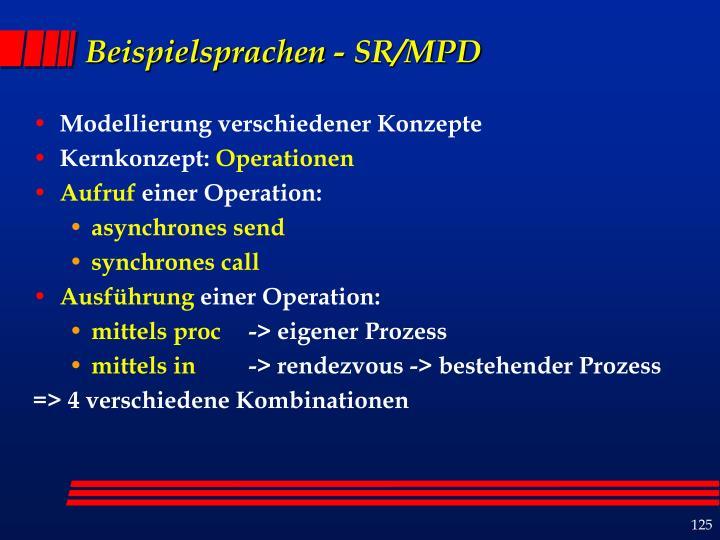 Beispielsprachen - SR/MPD