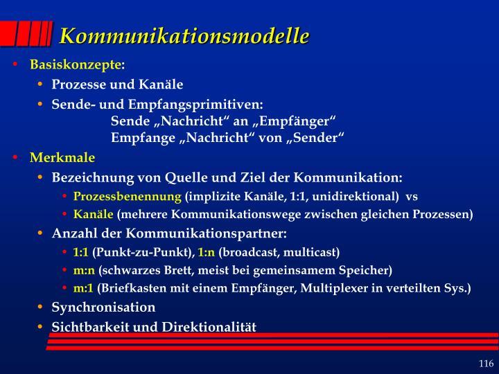 Kommunikationsmodelle