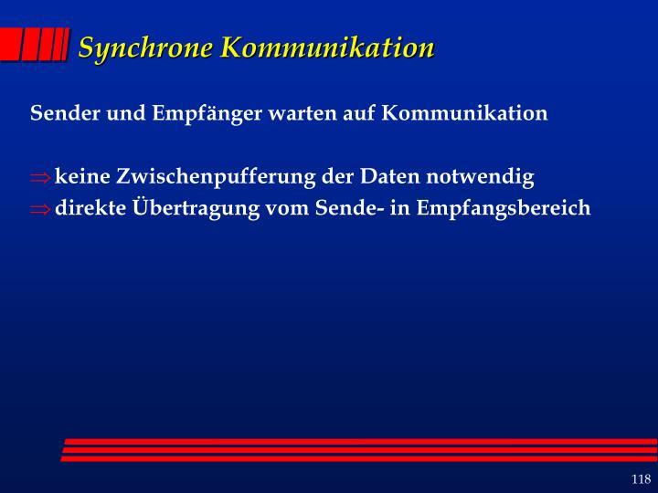 Synchrone Kommunikation
