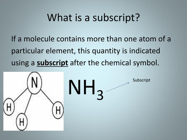 What is a subscript