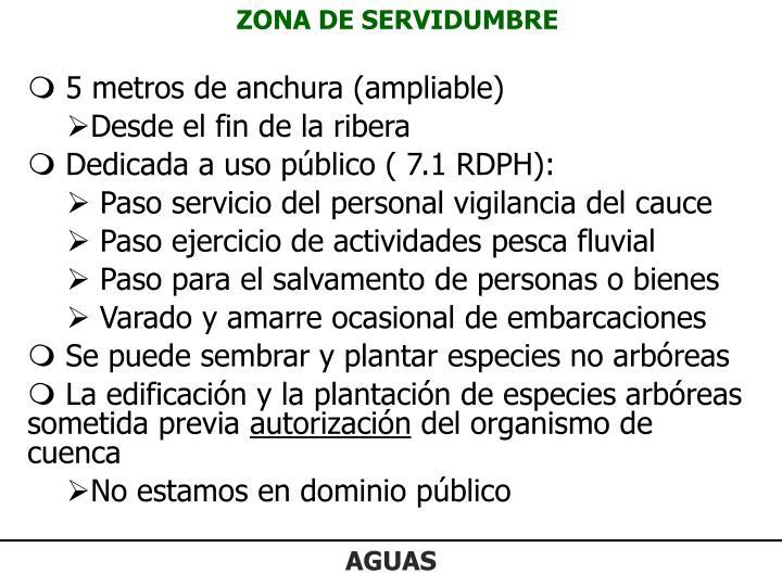 ZONA DE SERVIDUMBRE