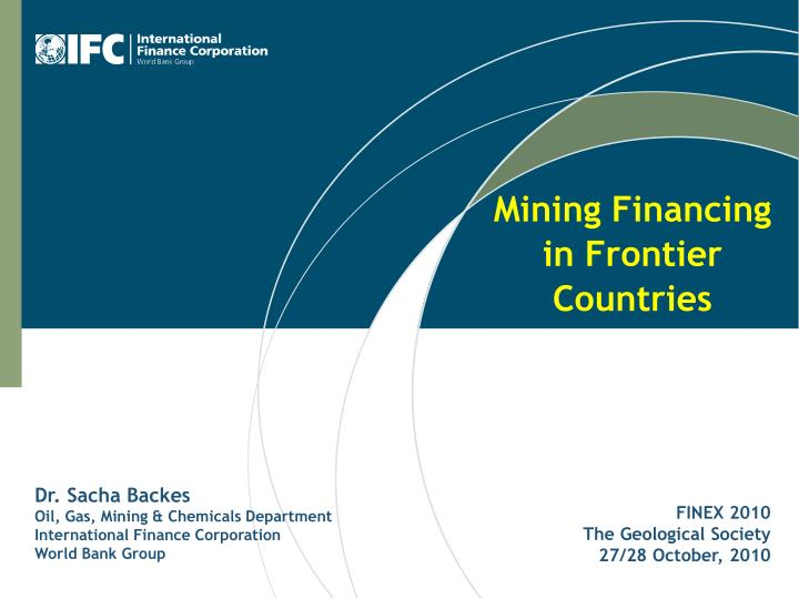 mining financing in frontier countries n.