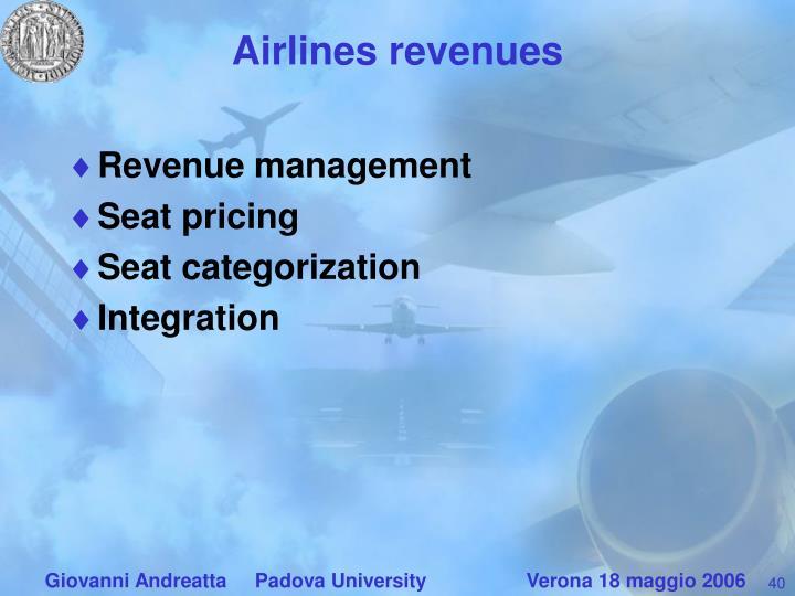 Airlines revenues