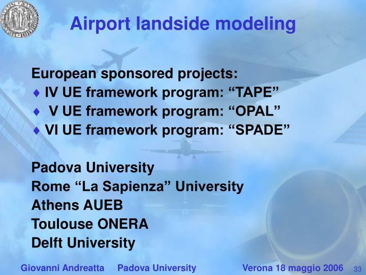 Airport landside modeling