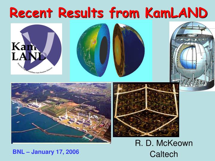 recent results from kamland n.