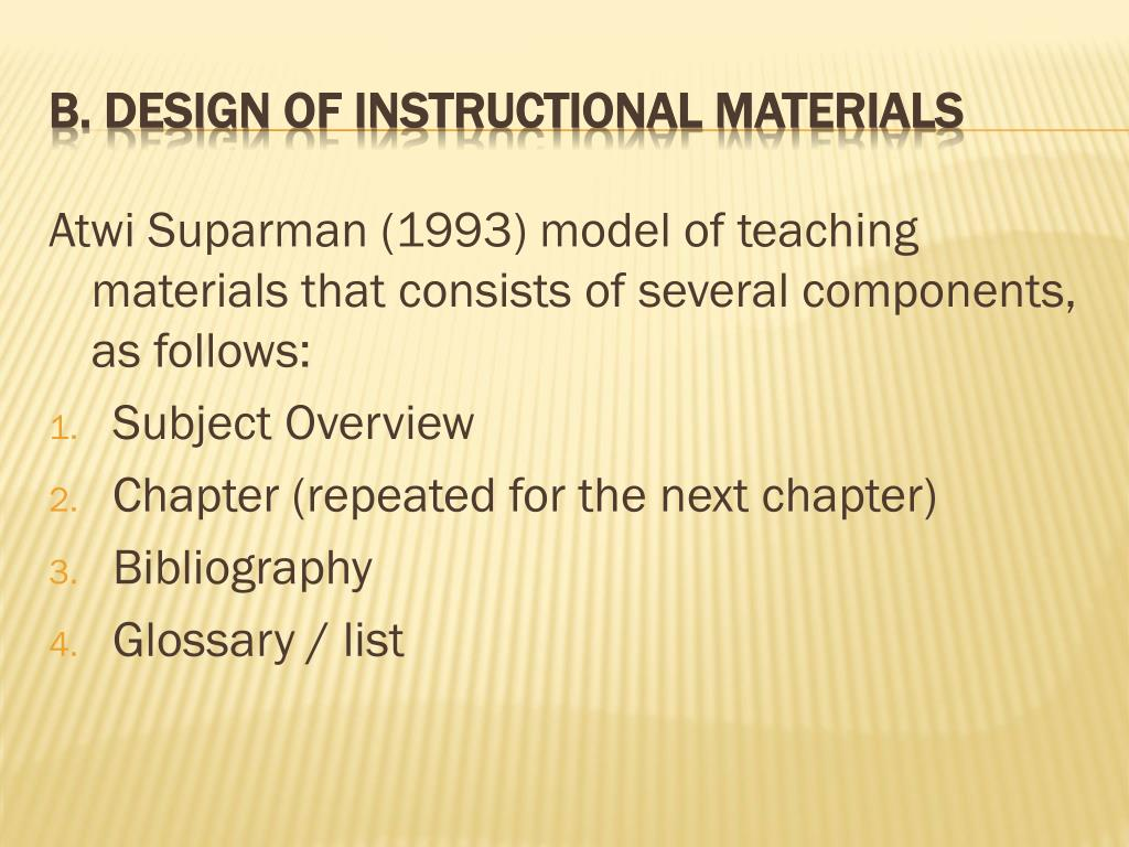 PPT - CHAPTER III Selection, Design and Development Procedure