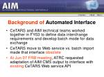 background of automated interface