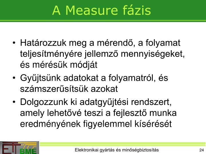 A Measure fázis