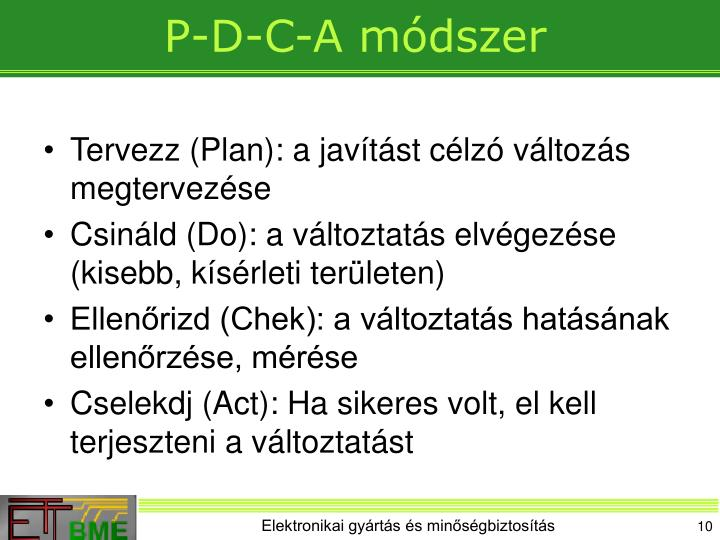 P-D-C-A módszer