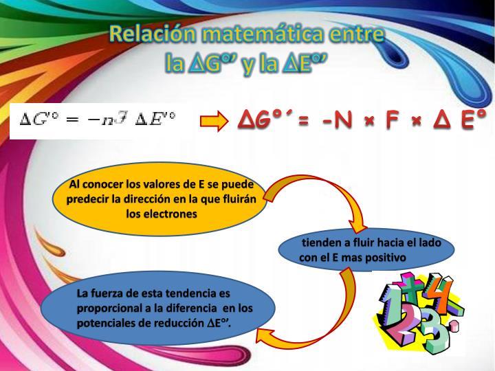 Relación matemática entre
