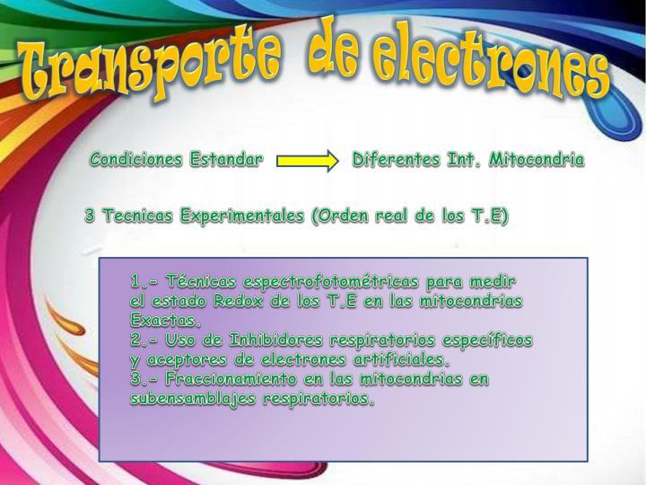 Transporte  de electrones