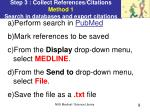 step 3 collect references citations method 1 search in databases and export citations