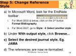 step 5 change reference style