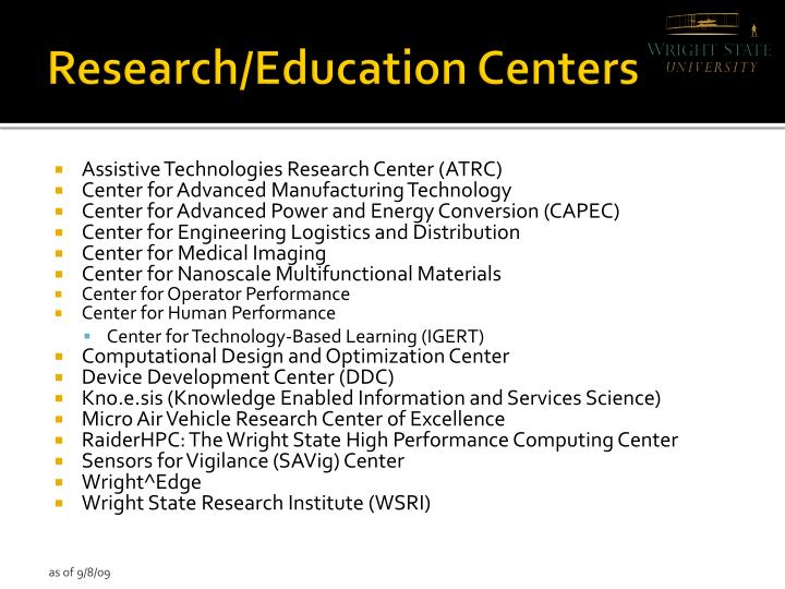 Research/Education Centers