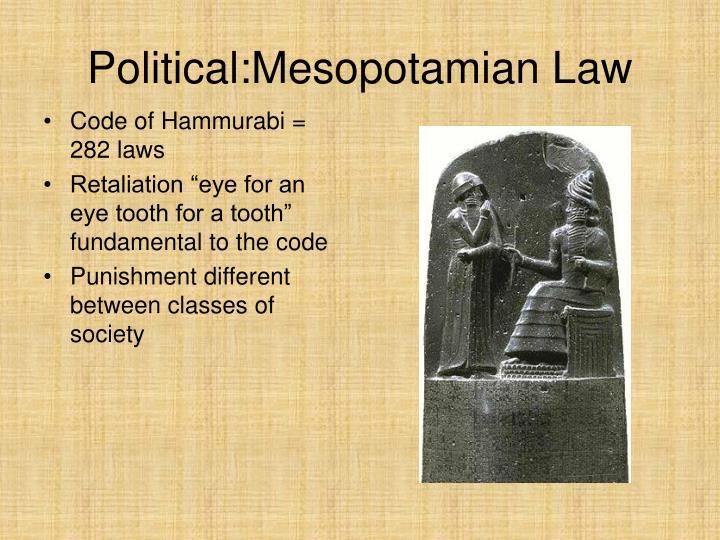 Political:Mesopotamian Law