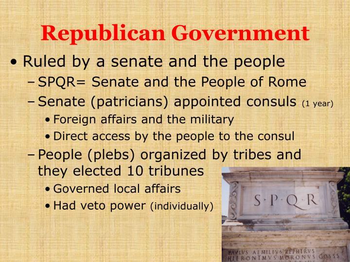 Republican Government