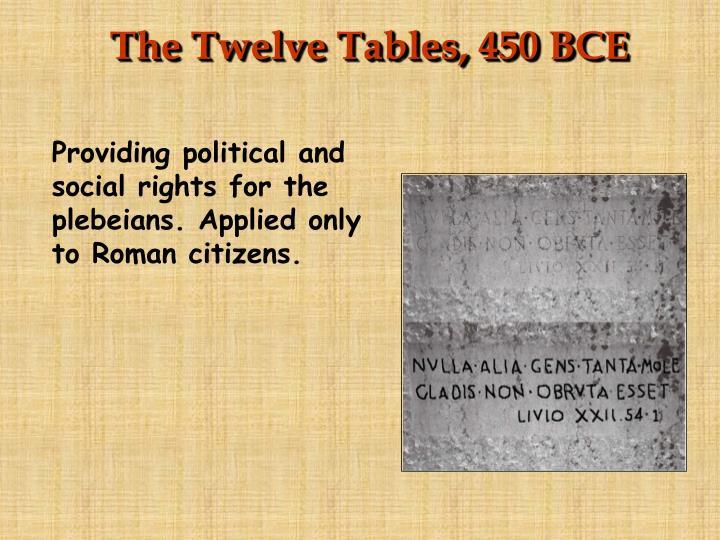 The Twelve Tables, 450 BCE