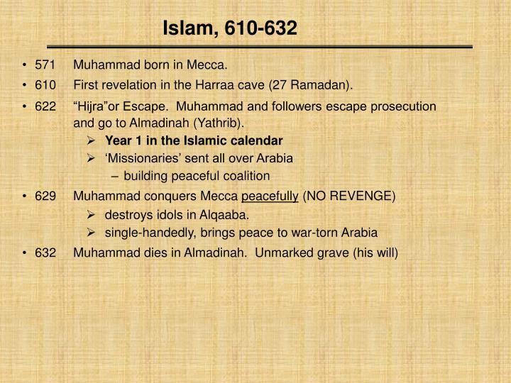 Islam, 610-632