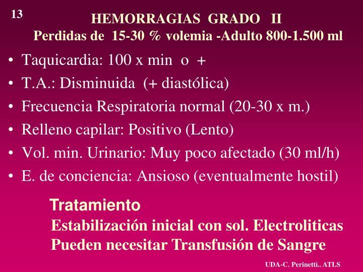 HEMORRAGIAS  GRADO   II