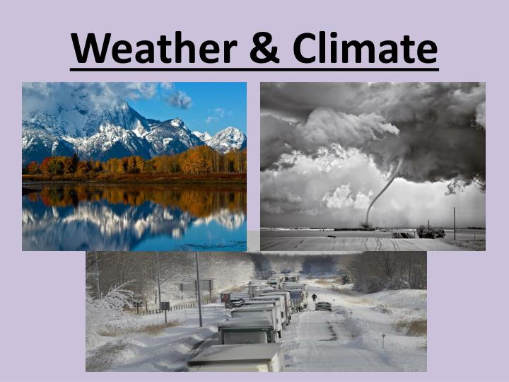 weather climate n.