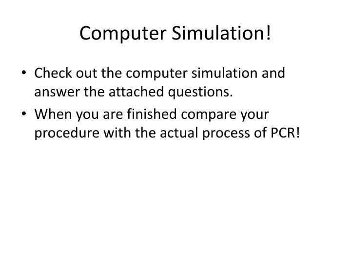 Computer Simulation!