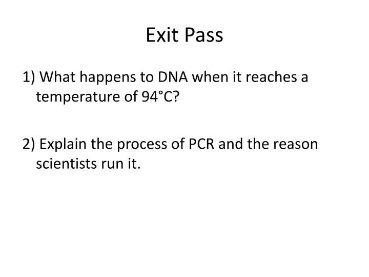 Exit Pass