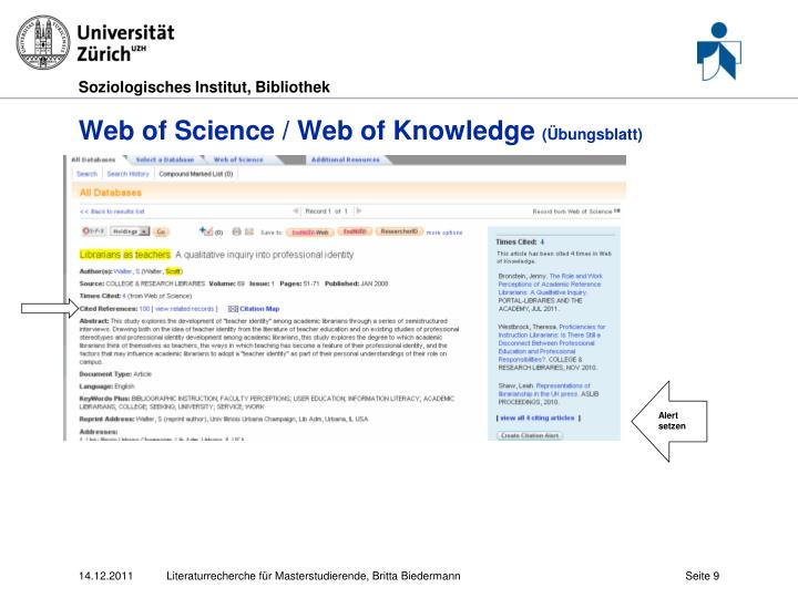 Web of Science / Web of Knowledge