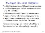 marriage taxes and subsidies1