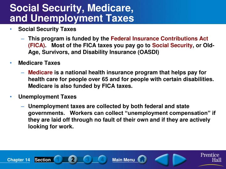 Social Security, Medicare,