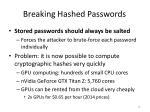 breaking hashed passwords