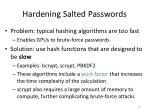hardening salted passwords