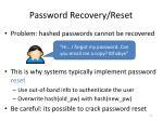 password recovery reset