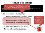 setuid and scripts