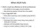 when aslr fails