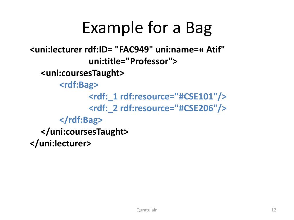 PPT - Resource Description Framework (RDF) PowerPoint Presentation