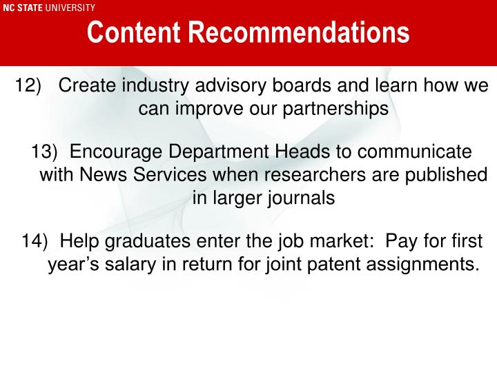 Content Recommendations