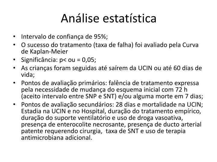 Análise estatística