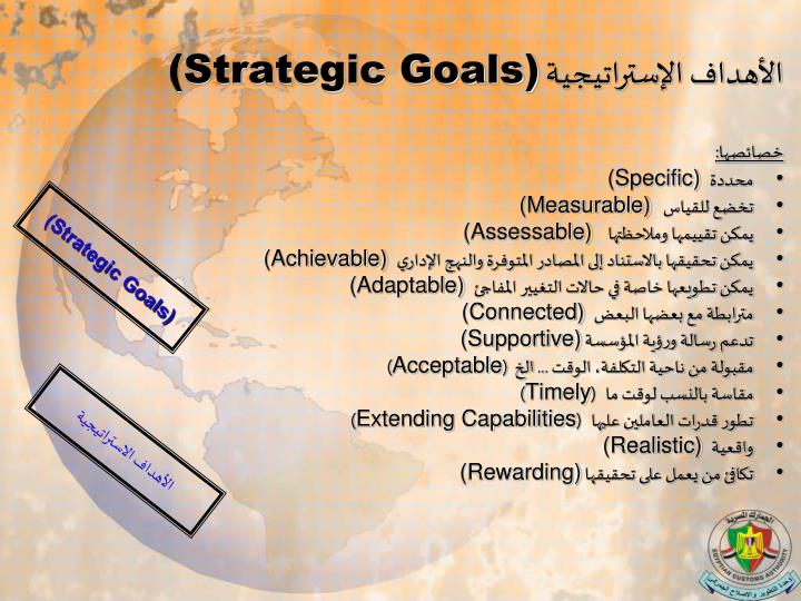 الأهداف الإستراتيجية