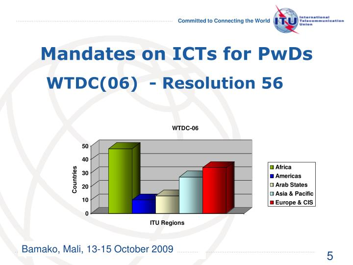 Mandates on ICTs for PwDs